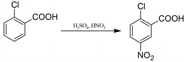Preparation of 2-chloro-5-nitrobenzoic acid